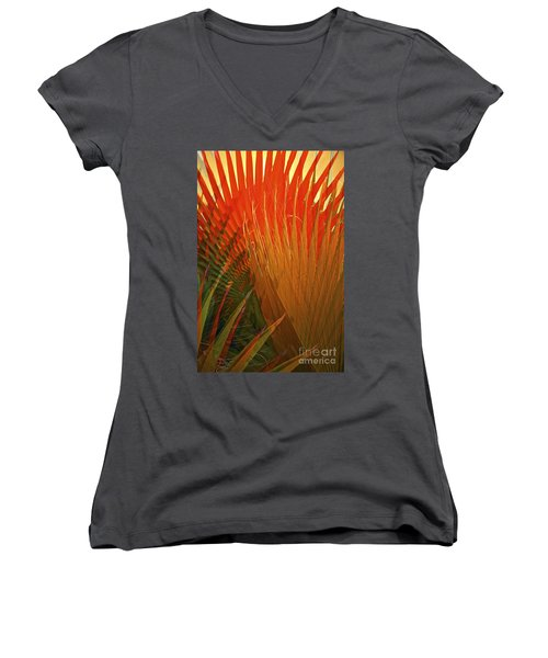 Mexican Palm Women's V-Neck (Athletic Fit)