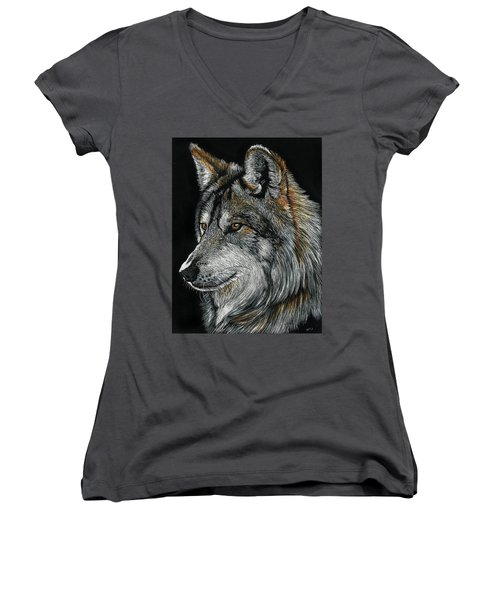Mexican Wolf Women's V-Neck (Athletic Fit)
