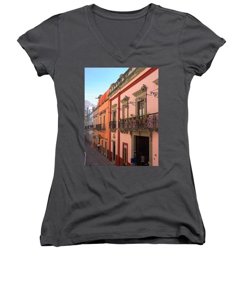 Women's V-Neck T-Shirt (Junior Cut) featuring the photograph Mexico by Mary-Lee Sanders