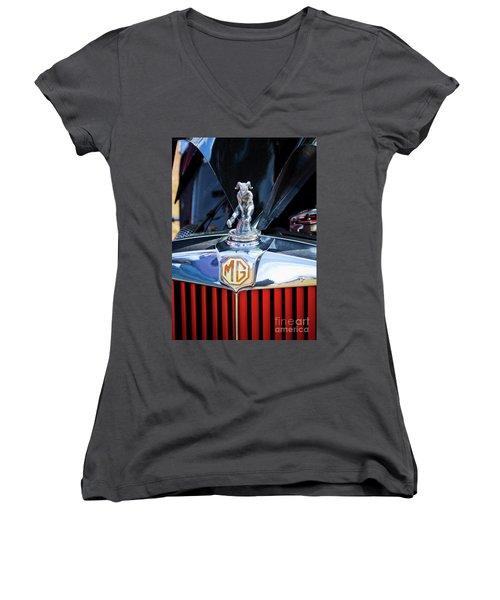Women's V-Neck T-Shirt (Junior Cut) featuring the photograph Mg Fool by Chris Dutton