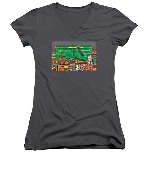 Mgm Grand Las Vegas Women's V-Neck (Athletic Fit)