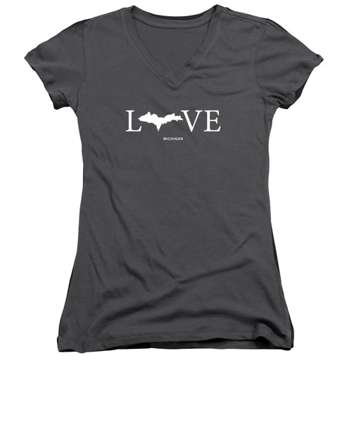 Mi Love Women's V-Neck T-Shirt (Junior Cut) by Nancy Ingersoll