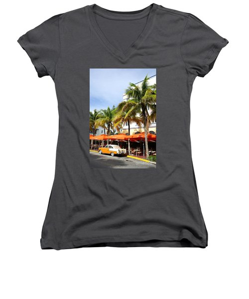 Miami South Beach Ocean Drive 8 Women's V-Neck T-Shirt