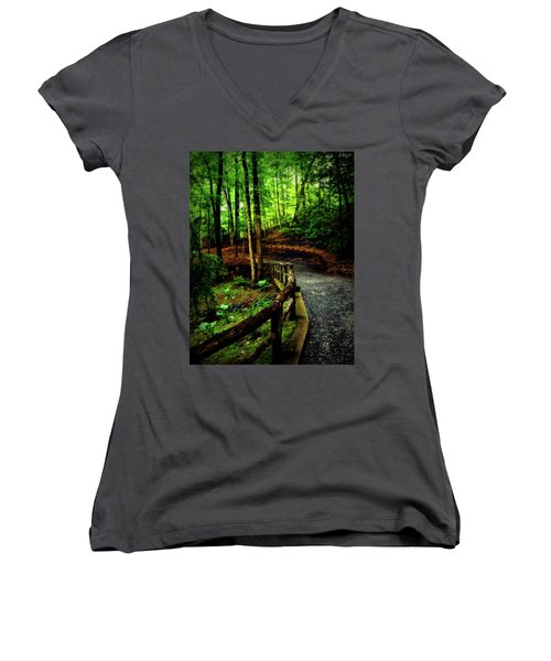 Women's V-Neck T-Shirt (Junior Cut) featuring the photograph Michie Tavern No. 3 by Laura DAddona