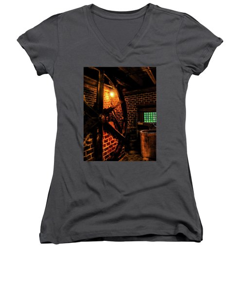 Women's V-Neck T-Shirt (Junior Cut) featuring the photograph Michie Tavern No. 4 by Laura DAddona