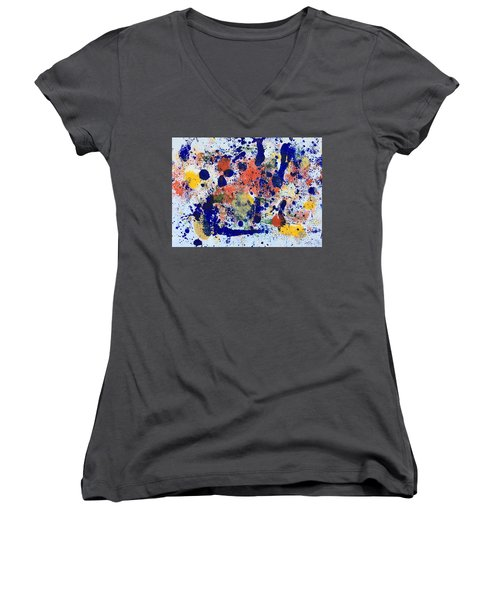 Michigan No 2 Women's V-Neck T-Shirt