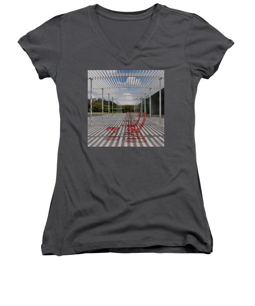 Mid-day Lines Women's V-Neck