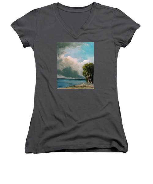 Midday Clouds Women's V-Neck T-Shirt