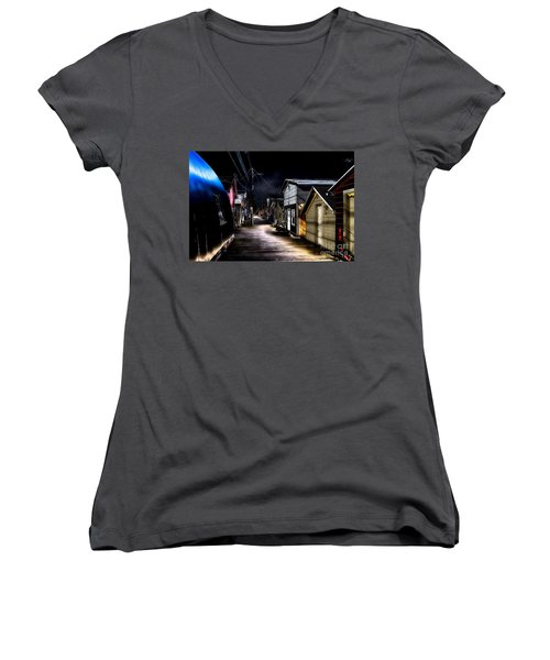 Midnight At The Boathouse Women's V-Neck
