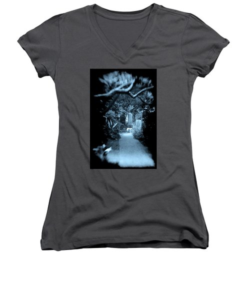 Midnight In The Garden O Women's V-Neck (Athletic Fit)
