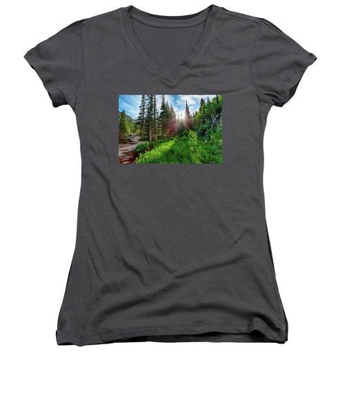 Women's V-Neck T-Shirt (Junior Cut) featuring the photograph Midsummer Dream by David Chandler