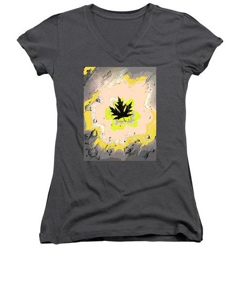 Mighty Oak Women's V-Neck T-Shirt (Junior Cut) by Desline Vitto