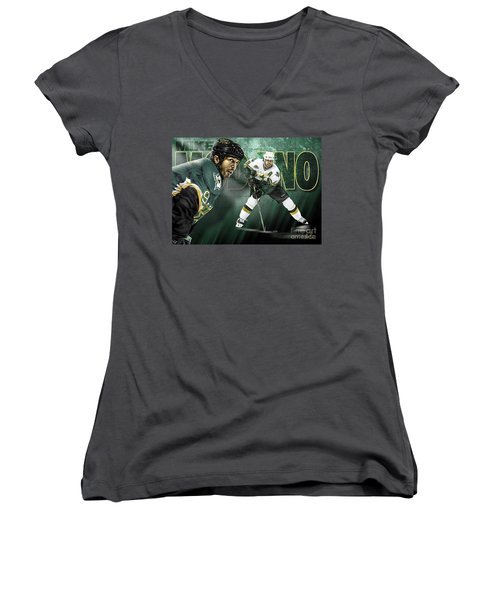 Mike Modano Women's V-Neck (Athletic Fit)
