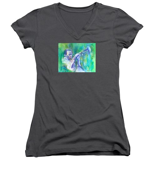 Miles Is Cool Women's V-Neck (Athletic Fit)