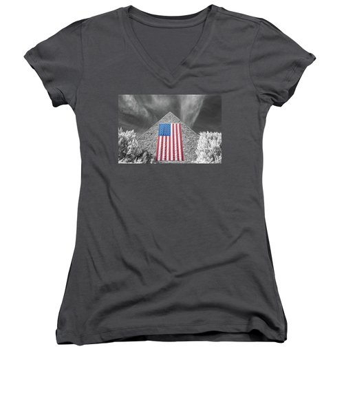 Women's V-Neck featuring the photograph Military Vision 2 by Brian Hale