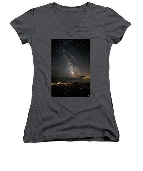 Milky Way At Pemaquid Women's V-Neck