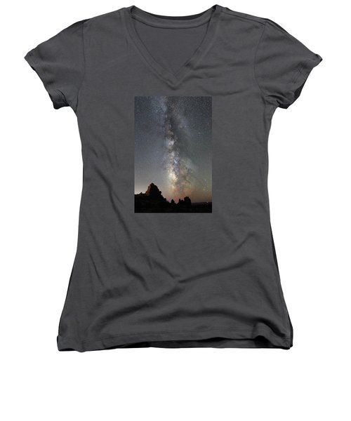 Milky Way Over Arches Np  One Women's V-Neck