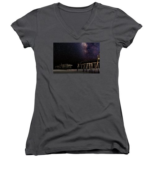 Milky Way Over Frisco Women's V-Neck