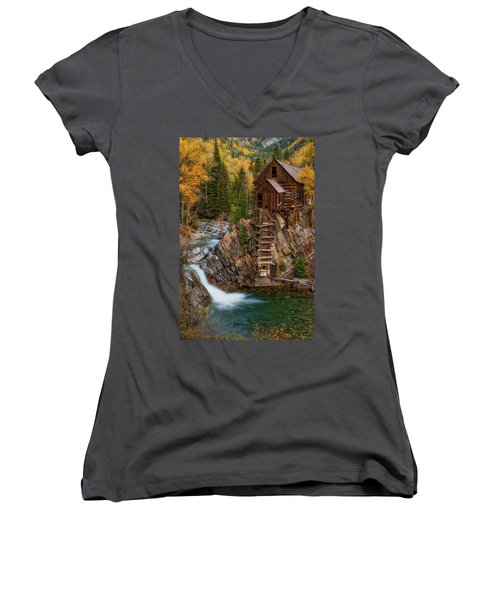 Mill In The Mountains Women's V-Neck