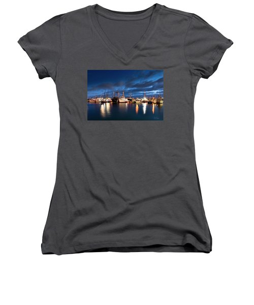 Women's V-Neck (Athletic Fit) featuring the photograph Millie by Dan McGeorge