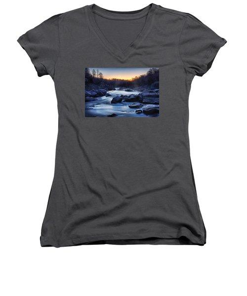 Millstream Gardens  Women's V-Neck T-Shirt (Junior Cut) by Robert Charity