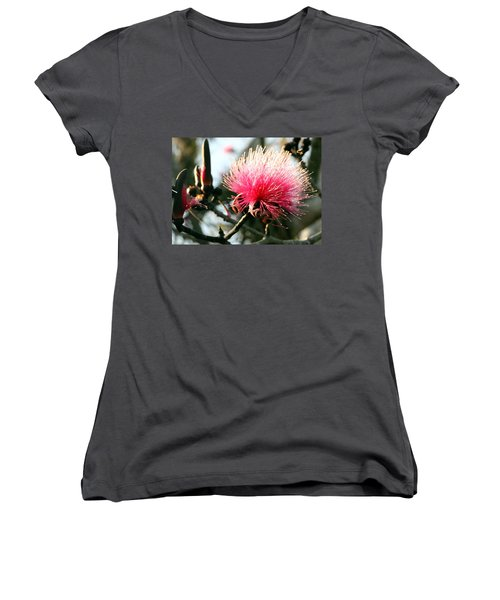 Mimosa In Bloom Women's V-Neck (Athletic Fit)