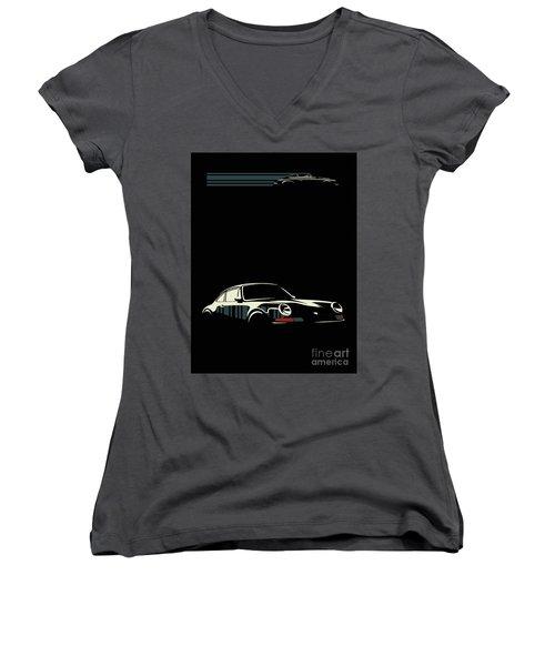 Minimalist Porsche Women's V-Neck