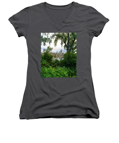 Minneapolis Through The Trees Women's V-Neck