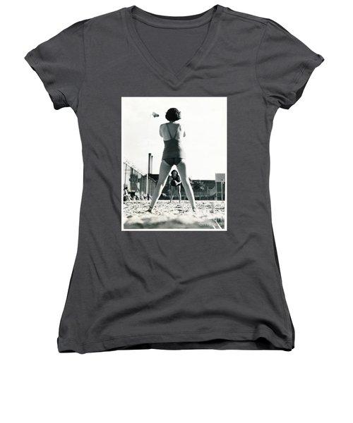 Miramar Pool, 1932 Women's V-Neck T-Shirt