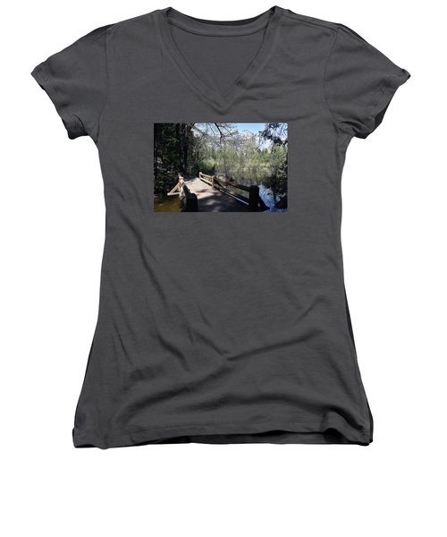 Mirror Lake At Yosemite National Park Women's V-Neck (Athletic Fit)