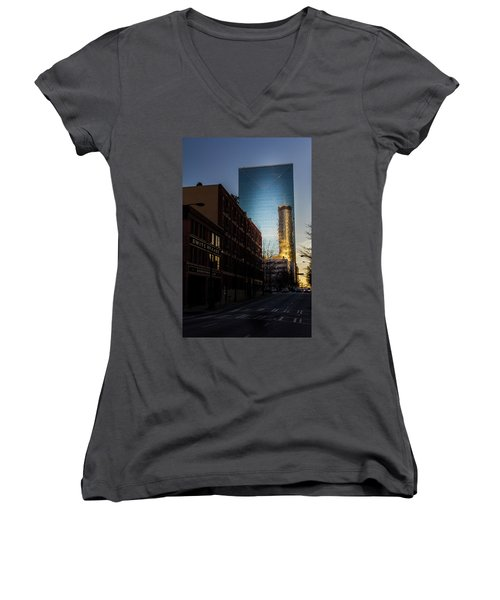 Mirror Reflection Of Peachtree Plaza Women's V-Neck