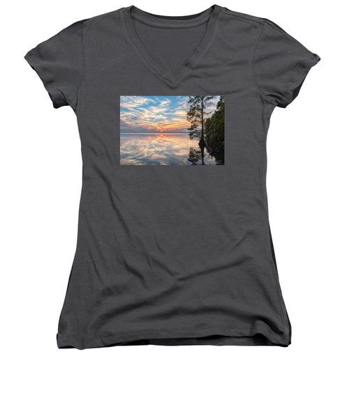 Mirrored Women's V-Neck (Athletic Fit)