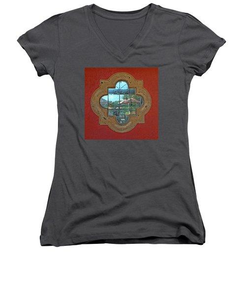 Mirrored Window Women's V-Neck T-Shirt