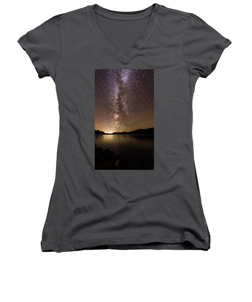 Women's V-Neck featuring the photograph Missing Dinner by Alex Lapidus
