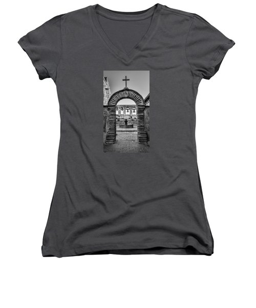 Mission Gate And Bells #3 Women's V-Neck (Athletic Fit)