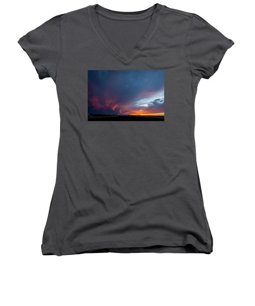 Missouri Sunset Women's V-Neck