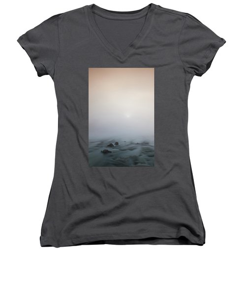 Mist Over The Third Tone From The Sun Women's V-Neck (Athletic Fit)
