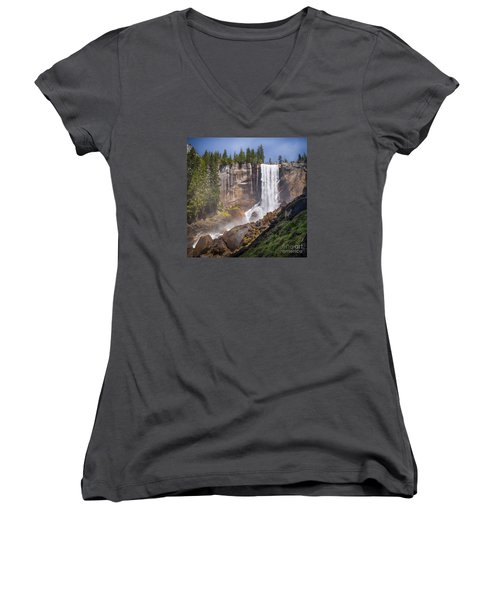 Mist Trail And Vernal Falls Women's V-Neck (Athletic Fit)