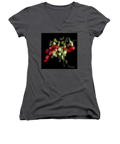 Mistletoe  Women's V-Neck