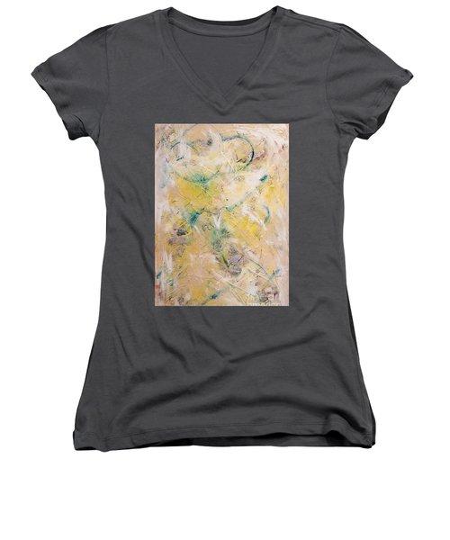 Mixed-media Free Fall Women's V-Neck T-Shirt