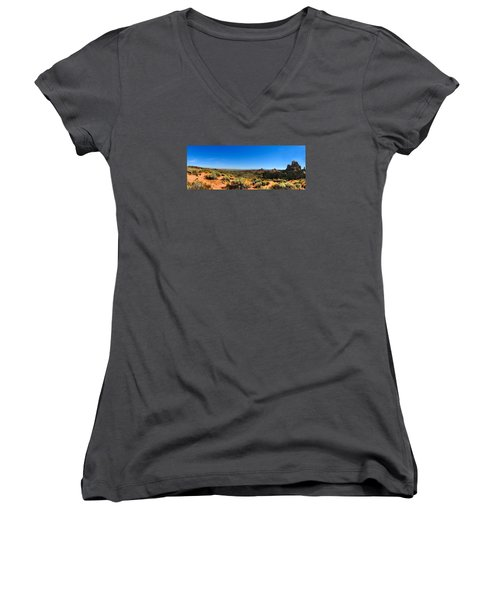Moab Retrospective Women's V-Neck T-Shirt (Junior Cut)