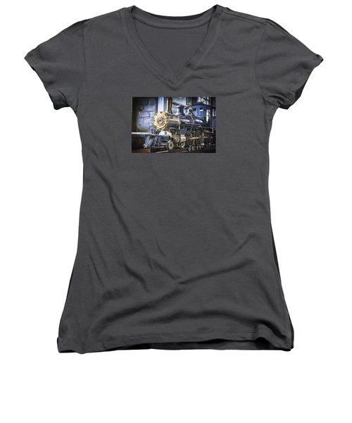 Model Train Women's V-Neck T-Shirt (Junior Cut) by Scott Hansen