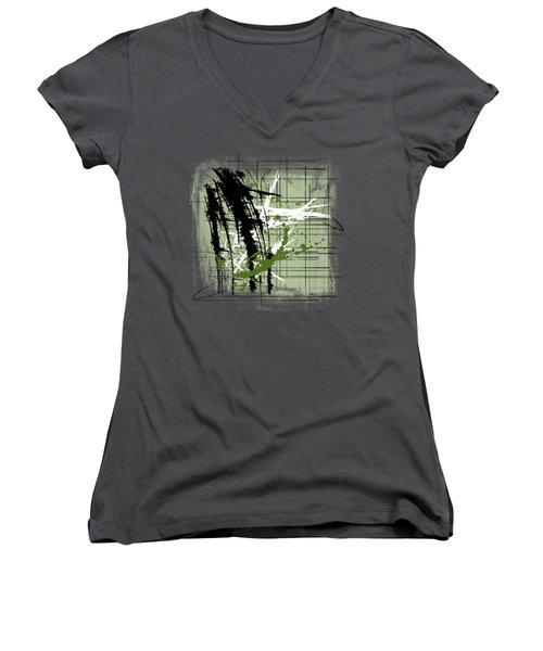 Modern Green Women's V-Neck T-Shirt (Junior Cut) by Melissa Smith
