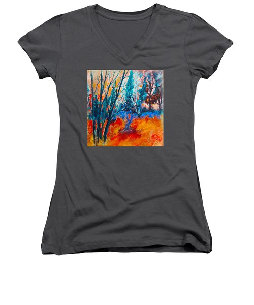 Modern Woods Women's V-Neck (Athletic Fit)