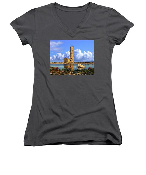 Mohawk Island Lighthouse Women's V-Neck