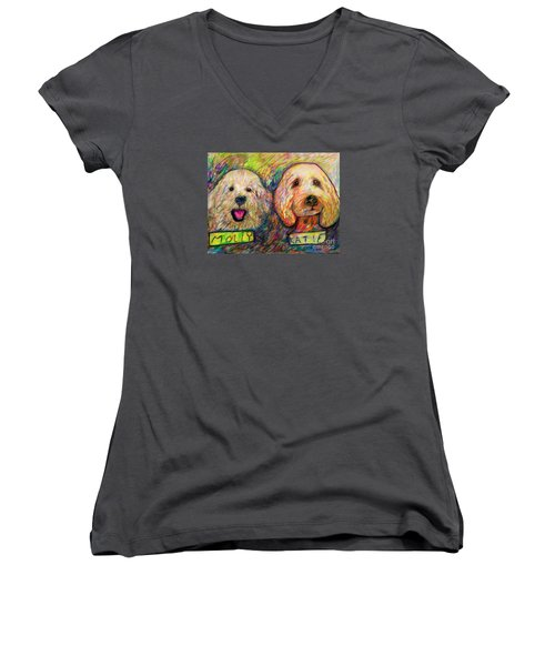 Molly And Katie Women's V-Neck T-Shirt