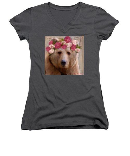 Momma Bear Women's V-Neck T-Shirt