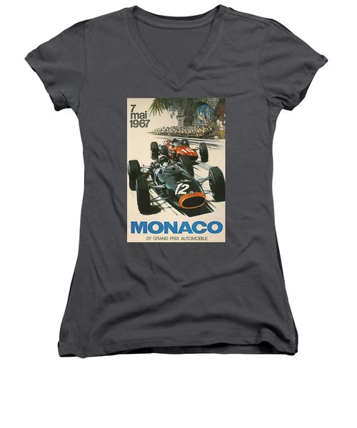 Monaco Grand Prix 1967 Women's V-Neck
