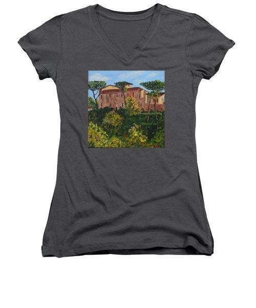 Monastero Women's V-Neck T-Shirt