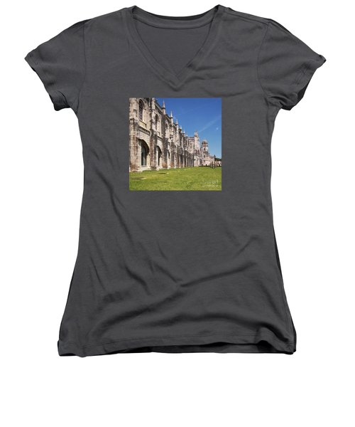 Monastery Of The Hieronymites Lisbon 3 Women's V-Neck (Athletic Fit)